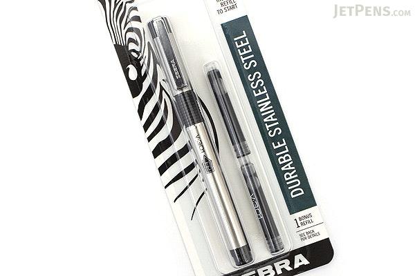 Zebra V-301 Fountain Pen - Black - Medium Nib - ZEBRA 48111