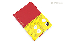 Stalogy Editor's Series 365Days Notebook - A5 - Red - STALOGY S4105