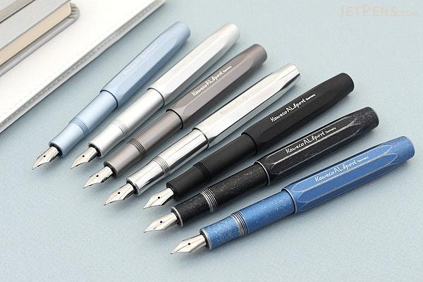 Kaweco AL Sport Stonewashed Fountain Pen - Black - Fine Nib - KAWECO 10000738
