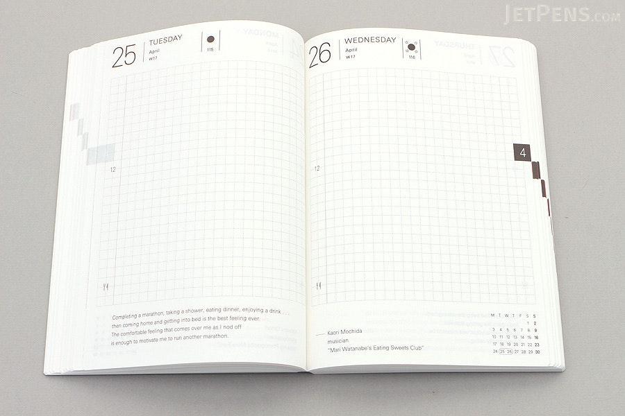 Hobonichi Techo Planner with Cover - 2017 - A6 - Black x Pistachio - HOBONICHI TECHO C 2017 BP