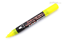 Marvy Uchida Bistro Chalk Marker - Medium Point - Fluorescent Yellow - MARVY 480-S #F5