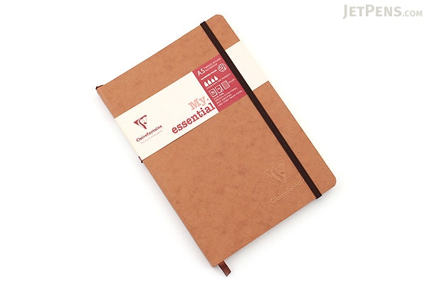 Clairefontaine My Essential Notebook - A5 - Lined - Tan - CLAIREFONTAINE 79346C