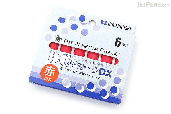 Umajirushi DC Chalk DX - Red - Pack of 6 - UMAJIRUSHI DX353