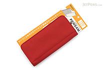 King Jim Pensam Pen Case No. 2000 - Standard - Red (Orange) - KING JIM NO.2000 RED