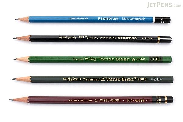 JetPens Wooden Pencil Sampler - 2B - JETPENS JETPACK-038