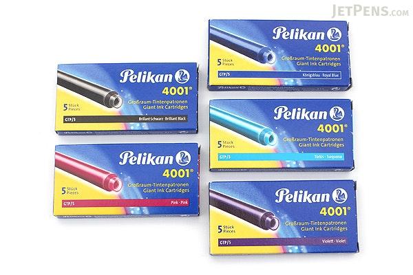 Pelikan 4001 Royal Blue Ink - Long - 5 Cartridges - PELIKAN 310748
