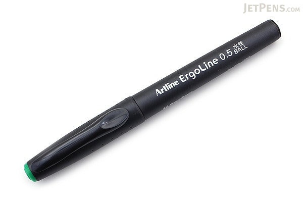 Shachihata Artline Ergoline Rollerball Pen - 0.5 mm - Green - SHACHIHATA K-4200 GREEN