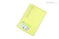 Kokuyo Campus Smart Ring Binder Notebook - A5 - 20 Rings - Yellow Green - KOKUYO RU-SP 130NYG