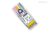 Staedtler Triplus Fineliner Pen - 0.3 mm - Pastel Colors - 6 Color Set - STAEDTLER 334SB6C1US