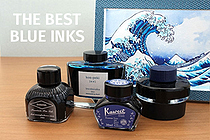 Blue Fountain Pen Ink Comparison