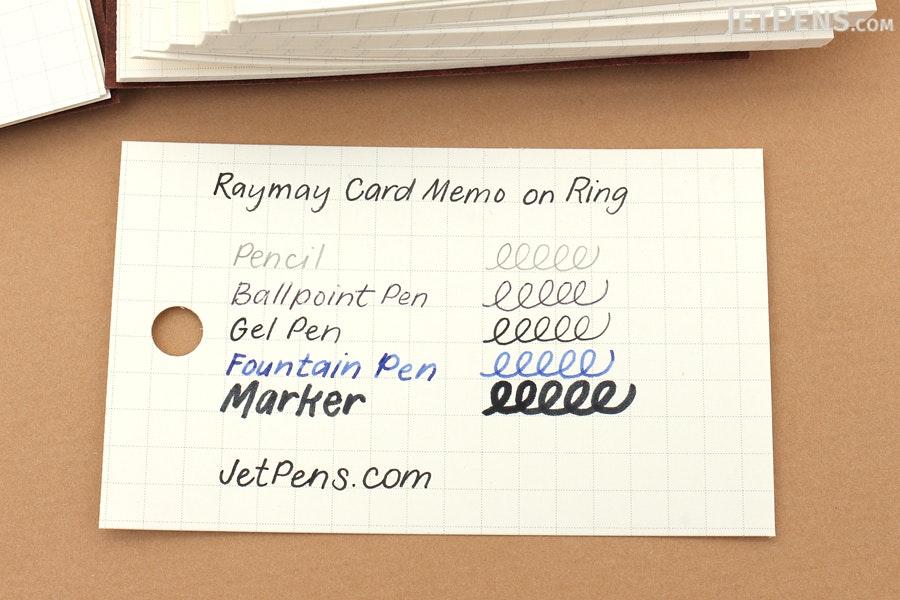 Raymay Card Memo on Ring - Small - Black - RAYMAY WD30 B
