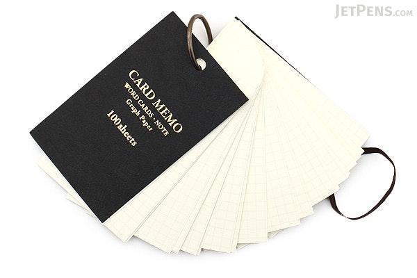 Raymay Card Memo on Ring - Large - Black - RAYMAY WD32 B