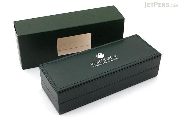 Monteverde Jewelria Executive Fountain Pen - Burgundy Grid - Medium Nib - MONTEVERDE MV59533