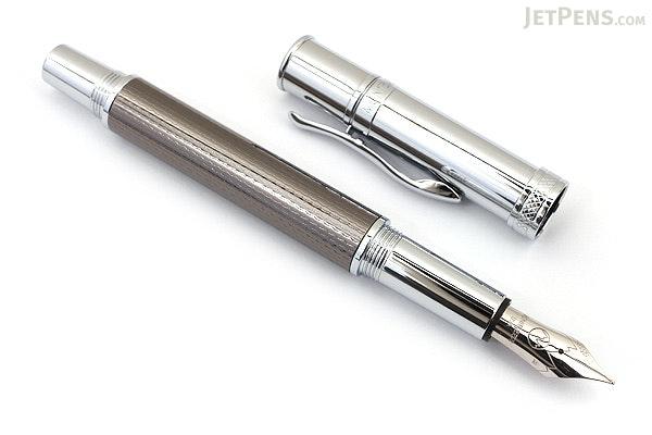 Monteverde Jewelria Executive Fountain Pen - Gun Metal Barley - Fine Nib - MONTEVERDE MV59552