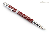 Monteverde Jewelria Executive Fountain Pen - Burgundy Grid - Medium Nib - MONTEVERDE MV59533