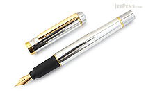 Ohto Proud Fountain Pen - Silver - Fine Nib - OHTO FF-15PD-SV