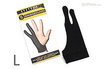 SmudgeGuard2 SG2 2-Finger Glove - Cool Black - Large - SMUDGE GUARD SG2-CB-L