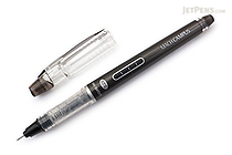 Morning Glory Mach Campus Rollerball Pen - 0.28 mm - Black Body - Black Ink - 32530-70301-3 BLACK