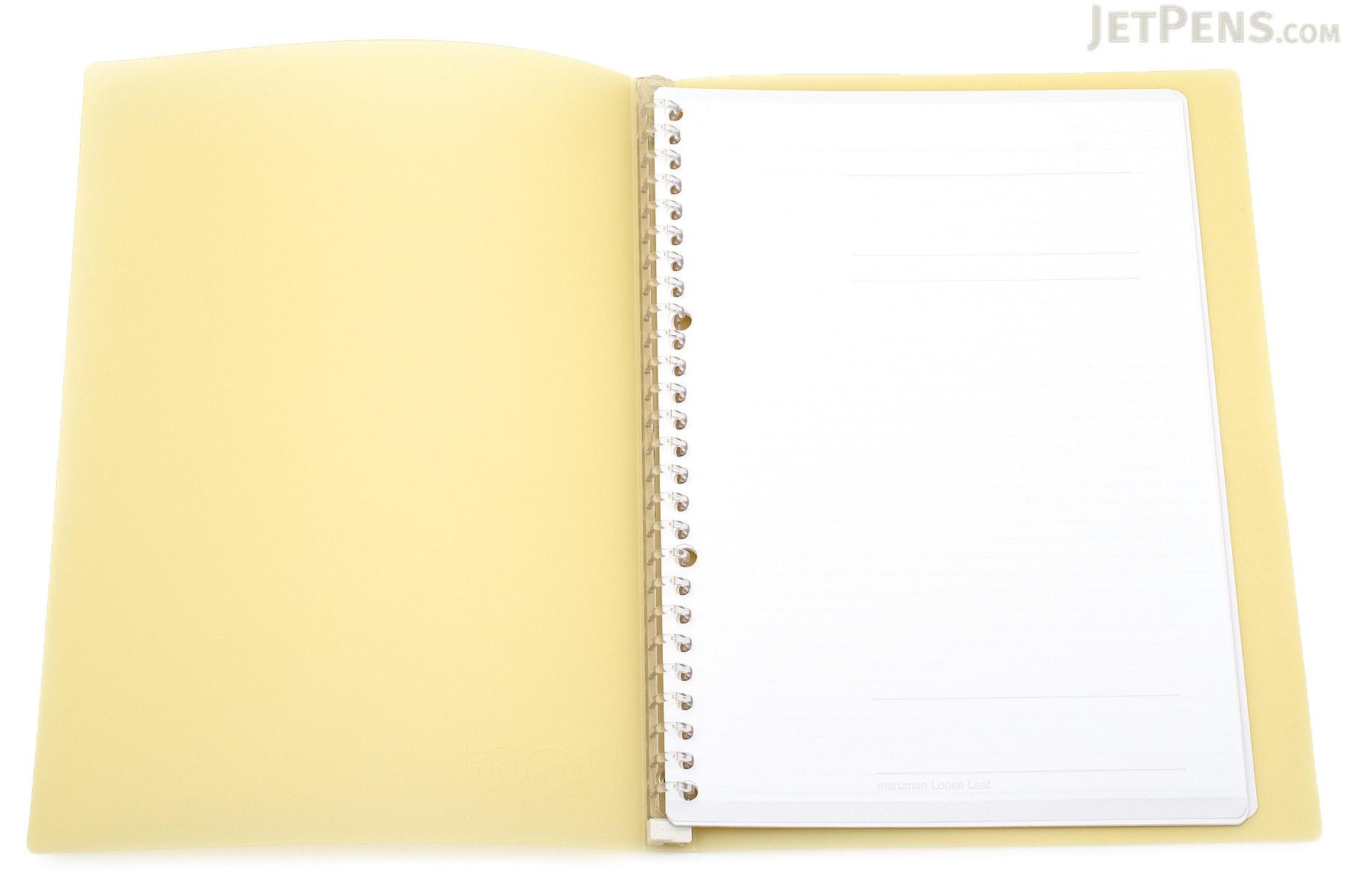 Maruman Kurufit Binder - B5 - 26 Rings - Yellow - MARUMAN F020-04