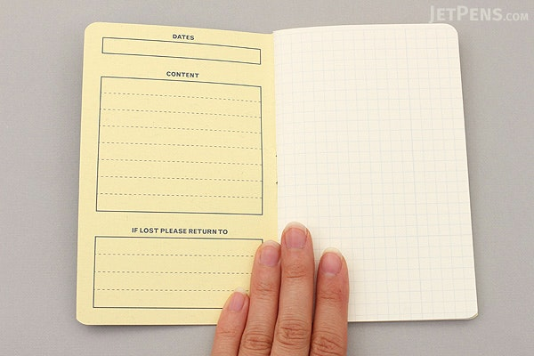 Story Supply Co. Pocket Staple Notebook - Graph - Pack of 3 - STORY SUPPLY CO SSC001