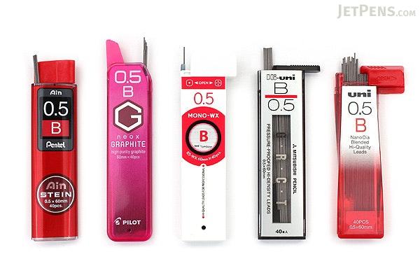 JetPens Mechanical Pencil Lead Sampler - 0.5 mm - B - JETPENS JETPACK-036