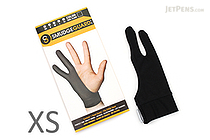 SmudgeGuard2 SG2 2-Finger Glove - Cool Black - Extra Small - SMUDGE GUARD SG2-CB-XS