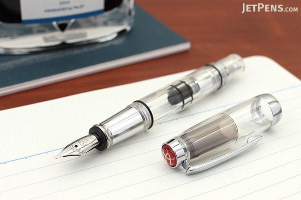 TWSBI Diamond Mini AL Silver Fountain Pen - Stub 1.1 mm Nib - TWSBI M7445040