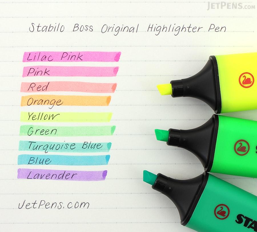 Stabilo Boss Original Highlighter Pen - Red - STABILO 70-40