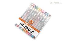 Pilot Hi-Tec-C Gel Pen - 0.3 mm - 10 Pen Gift Set - PILOT LH-200C3-10C