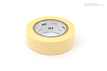MT Solids Washi Tape - Pastel Yellow - 15 mm x 10 m - MT MT01P301Z