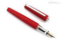Otto Hutt Design 06 Fountain Pen - Red Velvet - Fine Nib - OTTO HUTT HT/62550/RED/F