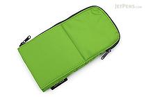 Kokuyo Neo Critz Flat Pencil Case - Green - KOKUYO F-VBF160-4