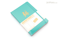 Leuchtturm1917 Copper Gilt Edge Notebook - A5 - Emerald - Plain - LEUCHTTURM1917 349218