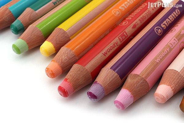 Stabilo Woody 3 in 1 Colored Pencil - 18 Color Set with ...