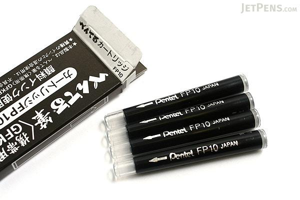 Pentel Pocket Brush Pen Refill Cartridges Black Pack