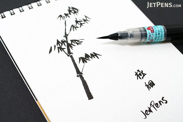 Pentel standard brush pen extra fine tip Drawing with calligraphy pens