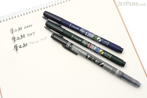 Tombow fudenosuke brush pen soft black body jetpens