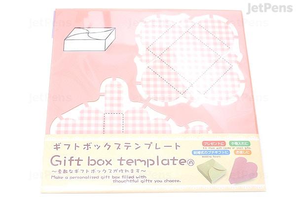 kuretake gift box template heart swirl jetpens com