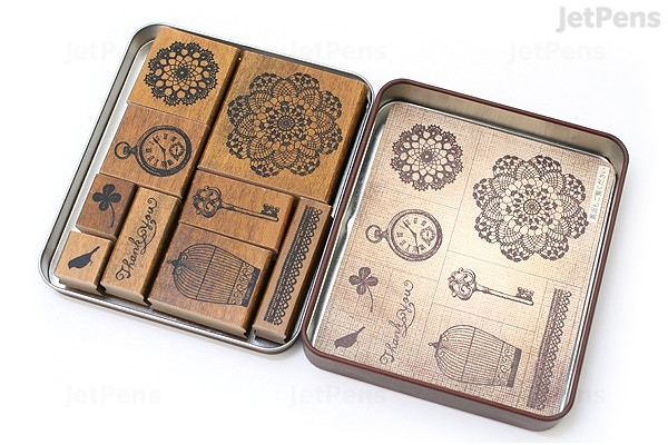 Kodomo No Kao Margaret Rubber Stamp 9 Piece Set Watch