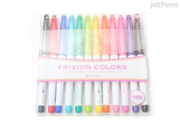 Jetpens Com Pilot Frixion Colors Erasable Marker 12 Color Set
