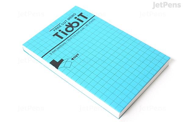 kokuyo tidbit free cut memo pad a7 4 1 x 2 9 5 mm graph 80
