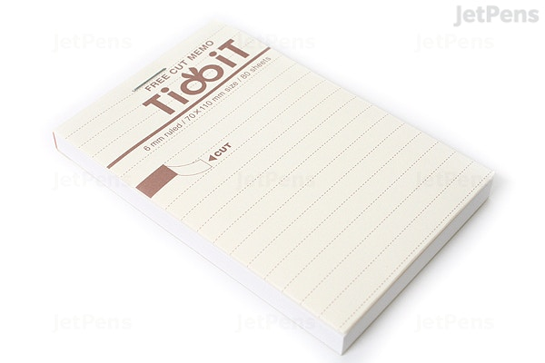 kokuyo tidbit free cut memo pad a7 4 1 x 2 9 6 mm lines 80