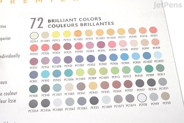Prismacolor Premier Colored Pencil 72 Color Tin Set 3599tn