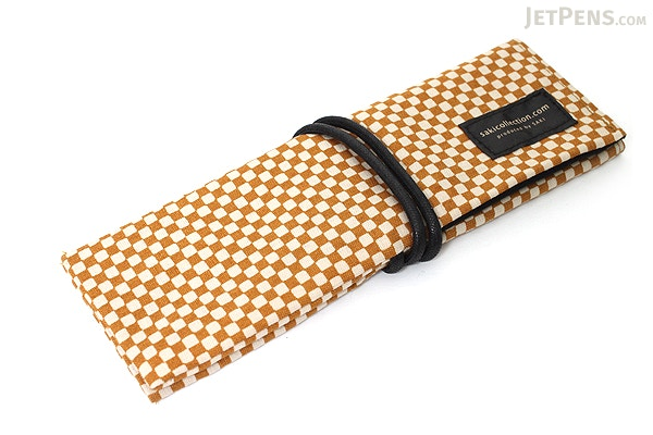 Saki P 661 Roll Pen Case With Traditional Japanese Fabric