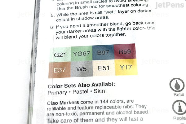 JetPens com - Copic Ciao Marker - 8 Muted Color Set