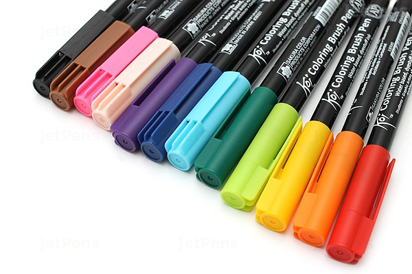 JetPens.com - Sakura Koi Coloring Brush Pen - 12 Color Set