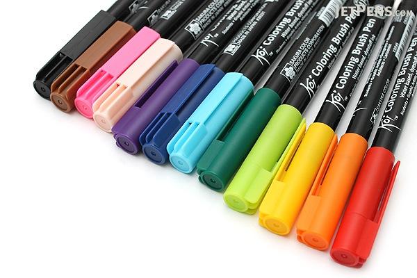 sakura koi coloring brush pen 12 color set sakura xbr 12sa