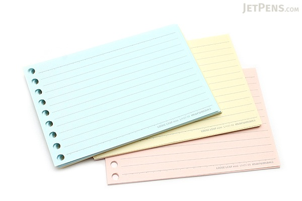 Maruman Smooth to Write Loose Leaf Mini Paper B7 Modified 6 mm – Colored Writing Paper