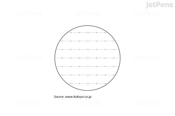 JetPens com - Kokuyo Campus Loose Leaf Paper - Sarasara - B5 - Dotted 6 mm  Rule - 26 Holes - 100 Sheets