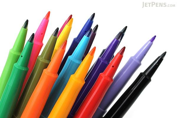 paper mate flair felt tip pen medium point 16 color set paper mate